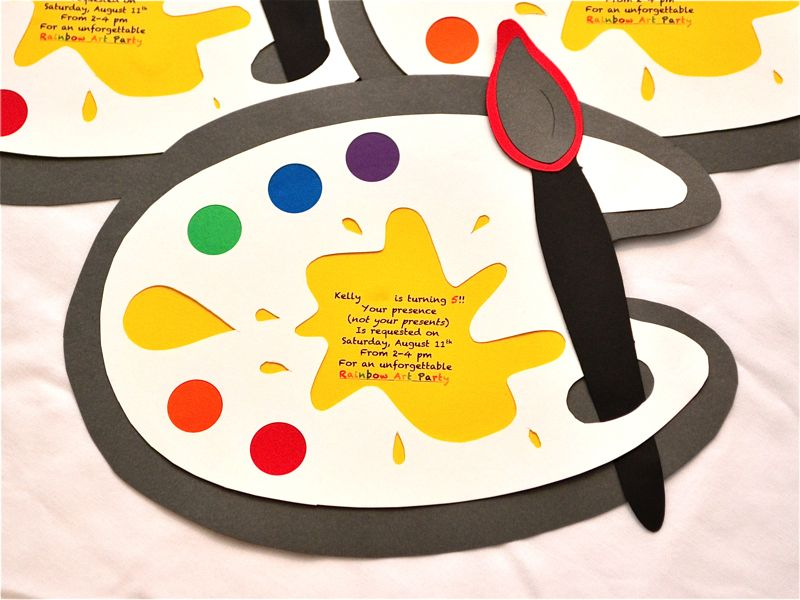 A Rainbow Art Party Invitation Tutorial – Art Party Invitation